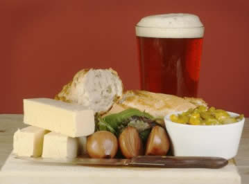 Real ale, bread and cheese